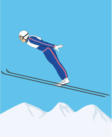 Ski Jumper Illustration.