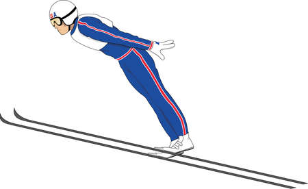 Ski Jumper Illustration. Stock Vector - 84161634