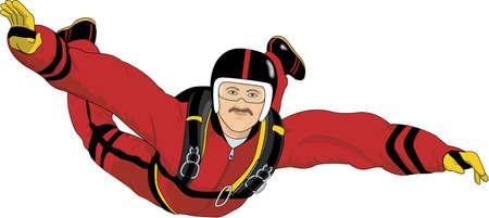 Sky Diver Illustration.