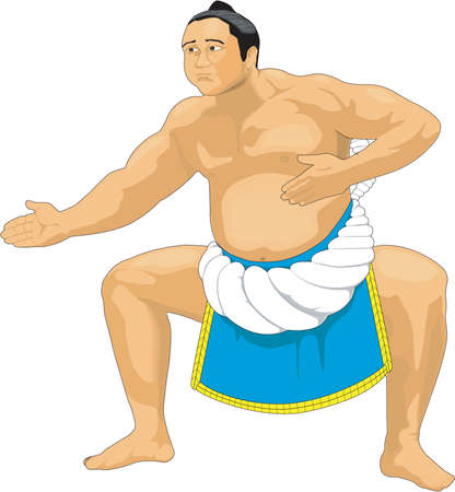 Sumo Wrestler Illustration