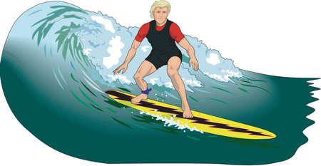 Ilustración de surfista Foto de archivo - 84176506