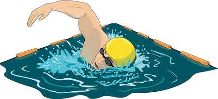 Illustratie van de zwemmer