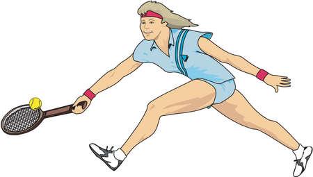 Illustration de joueur de tennis Banque d'images - 84176508