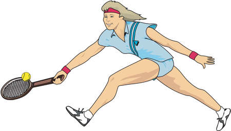 Tennis speler illustratie