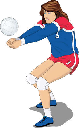 Volleyball Player Illustration