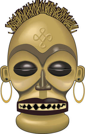 African Mask Illustration Stock Vector - 84437045