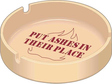 Ash Tray Illustration Illustration