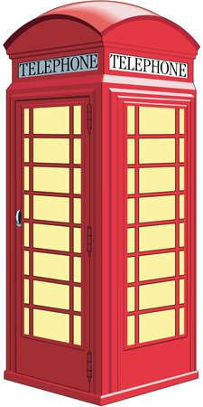 British Telephone Booth Illustration Illustration