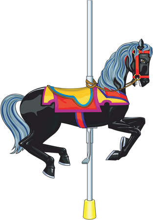 Carousel horse illustration. 矢量图像