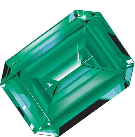 Realistic shining emerald illustration