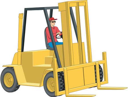 Forklift Illustration Ilustração