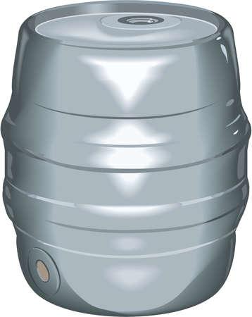 Realistic Beer Keg Illustration