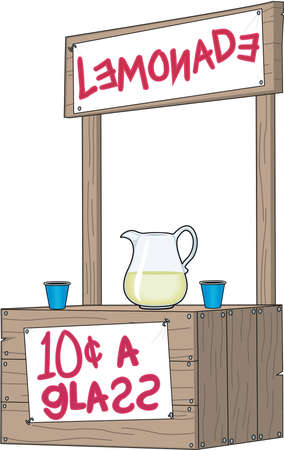 Realistic Lemonade Stand Illustration