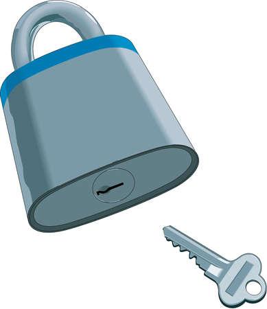 Realistic Lock and Key Illustration