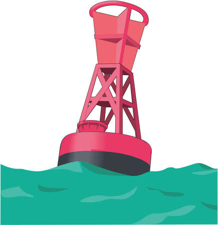 Navigation Buoy Illustration