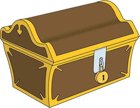 Cartoon illustration of Treasure Chest