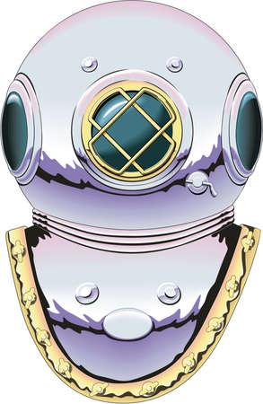 ダイビング ヘルメットの漫画イラスト 写真素材 - 84438296