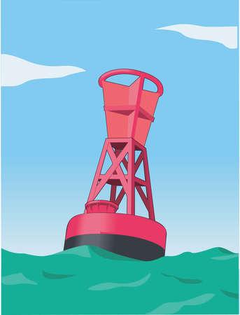 Ilustración de la boya de navegación