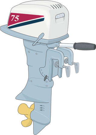 Outboard Motor Illustration Illustration