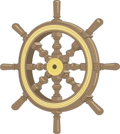 Ship's Wheel Illustration