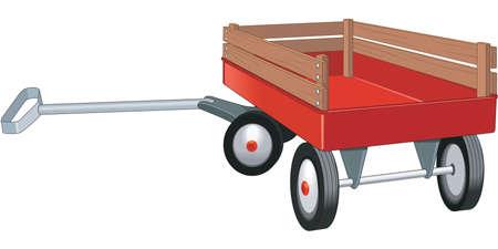 Red Wagon Illustration