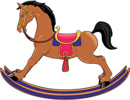 Rocking Horse Illustration Illustration