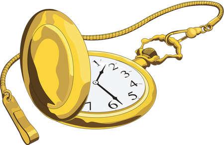 Illustration de montre de poche Banque d'images - 84438727