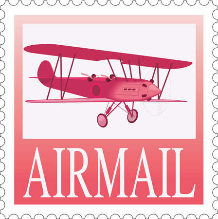 Postage Stamp Illustration