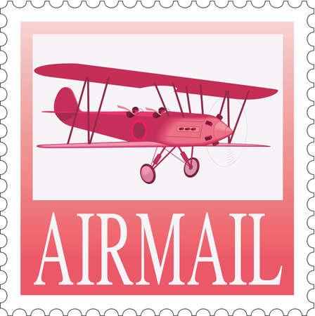 Postage Stamp Illustration