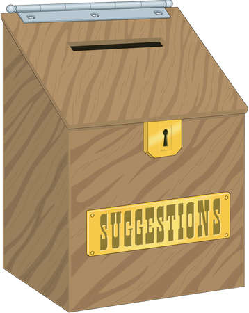 Suggestion Box Illustration 向量圖像