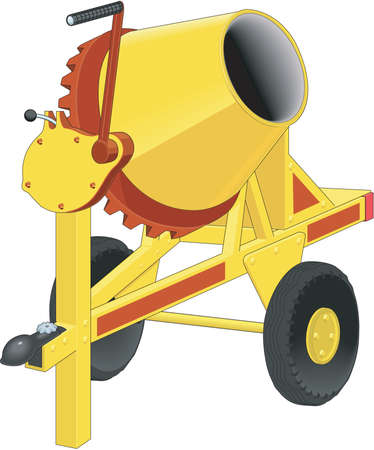 Cement Mixer Illustration
