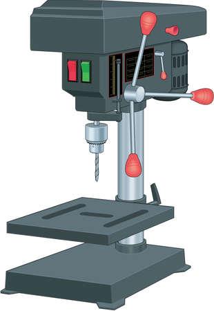 Drill Press Illustration