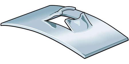 Flat Steel Spring Nut Illustration Ilustrace