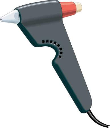 Glue Gun Illustration