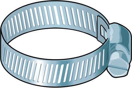 Hose Clamp Illustration Stock Vector - 84793484