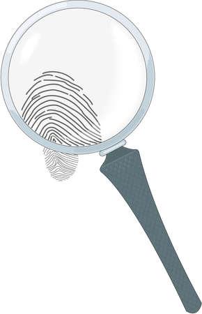 虫眼鏡の図  イラスト・ベクター素材