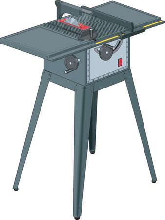 Tisch sah Illustration Standard-Bild - 84793819