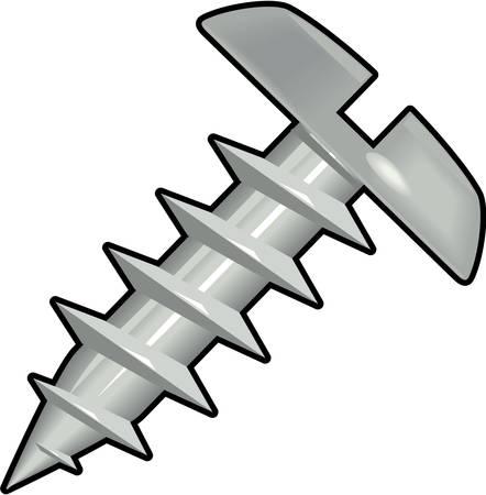 Pan Head Sheet Metal Screw Illustration Illustration