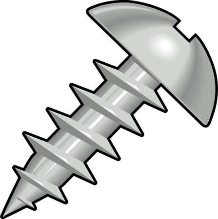 Round Head Sheet Metal Screw Illustration Illustration