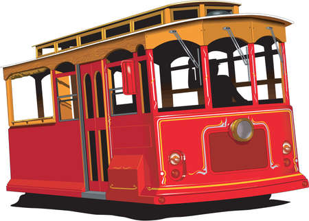 Cable Car Illustration