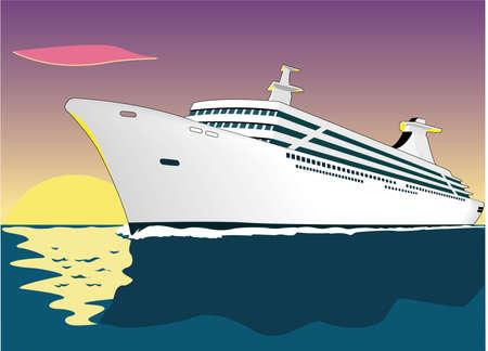 Cruise Ship Illustration 版權商用圖片 - 85168471