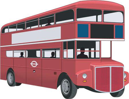 二重デッカー バス イラスト
