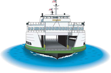 Ferry Illustration Illustration