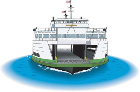 Veerboot illustratie Vector Illustratie