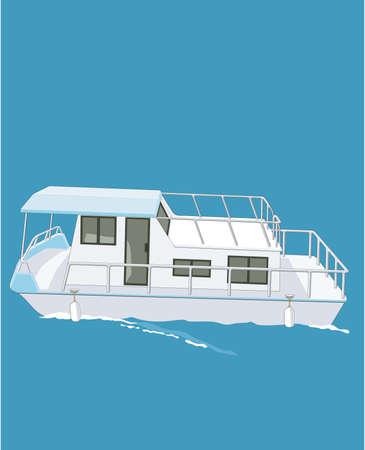 Huisbootillustratie