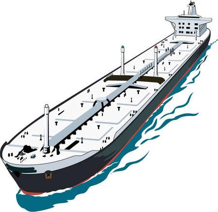 Super Tanker Illustratie Stock Illustratie