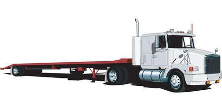 Tractor Trailer Illustration  イラスト・ベクター素材