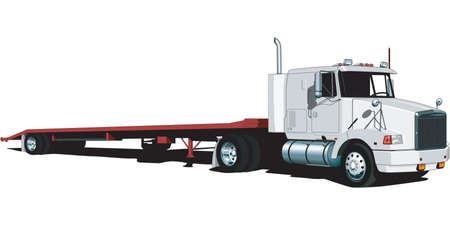 Tractor Trailer Illustration Illustration