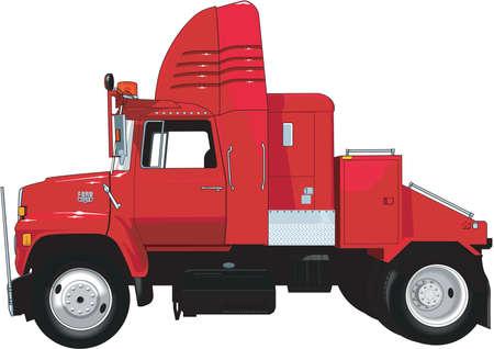 Tractor Trailer Illustration Illustration