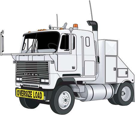 18 wheeler: Tractor Trailer Illustration Illustration